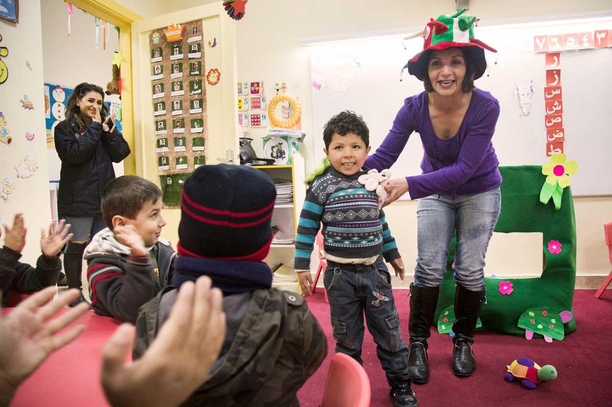 Los niños que asisten al jardín de infancia