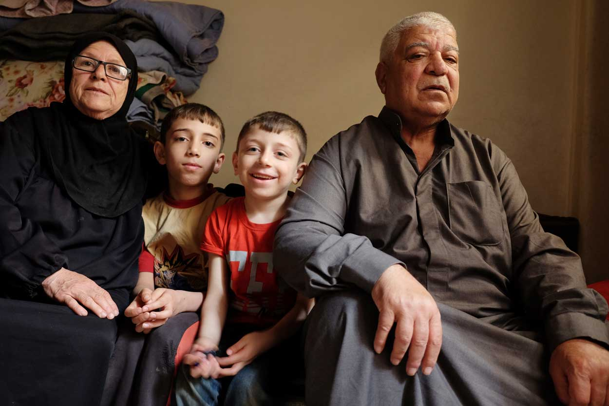 The elderly are looking after their orphaned grandchildren.