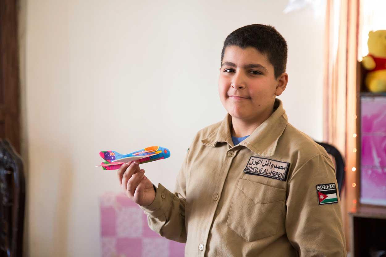 Wael, de 11 años, y su familia huyeron de su hogar, en Damasco, y se trasladaron a Jordania hace cuatro años.