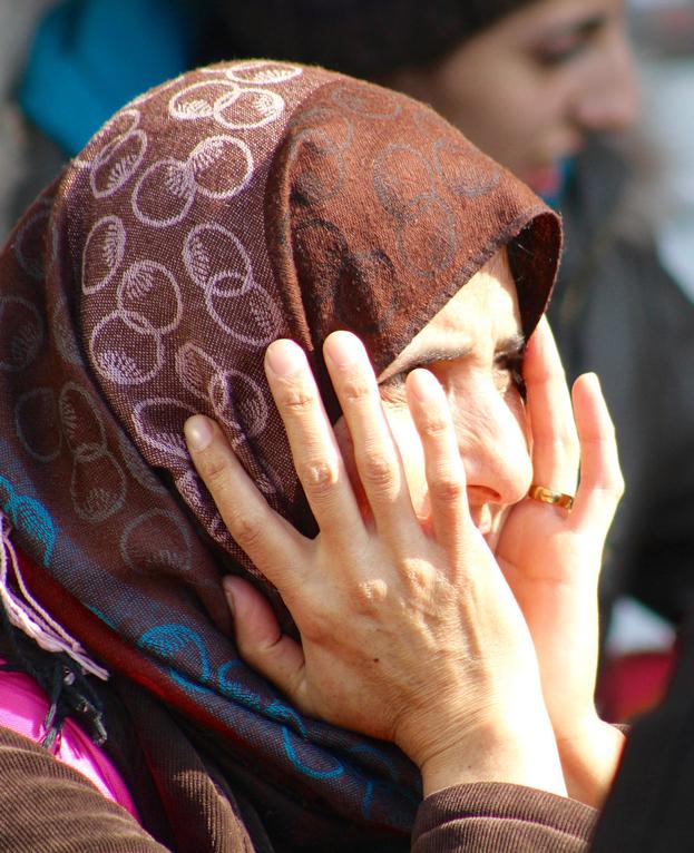 Una refugiada de edad avanzada