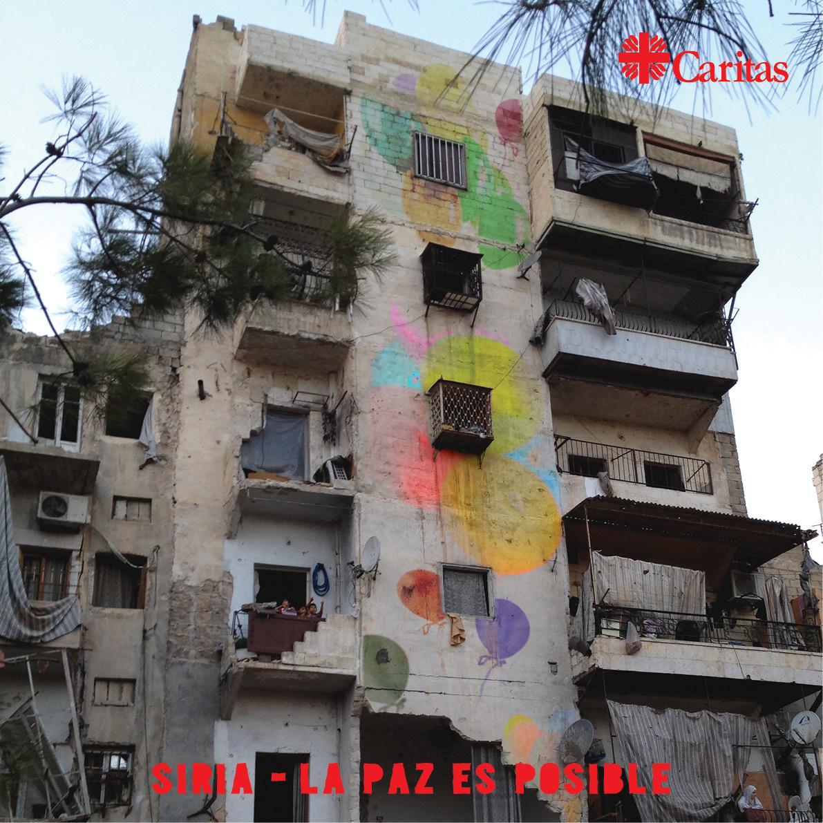 Únanse a Caritas para llevar la paz, la dignidad y la esperanza a los sirios. Caritas está haciendo campaña por el fin inmediato de la violencia y el sufrimiento. Por favor, únanse a nosotros para hacer posible la paz en Siria. #PeacePossible4syria.
