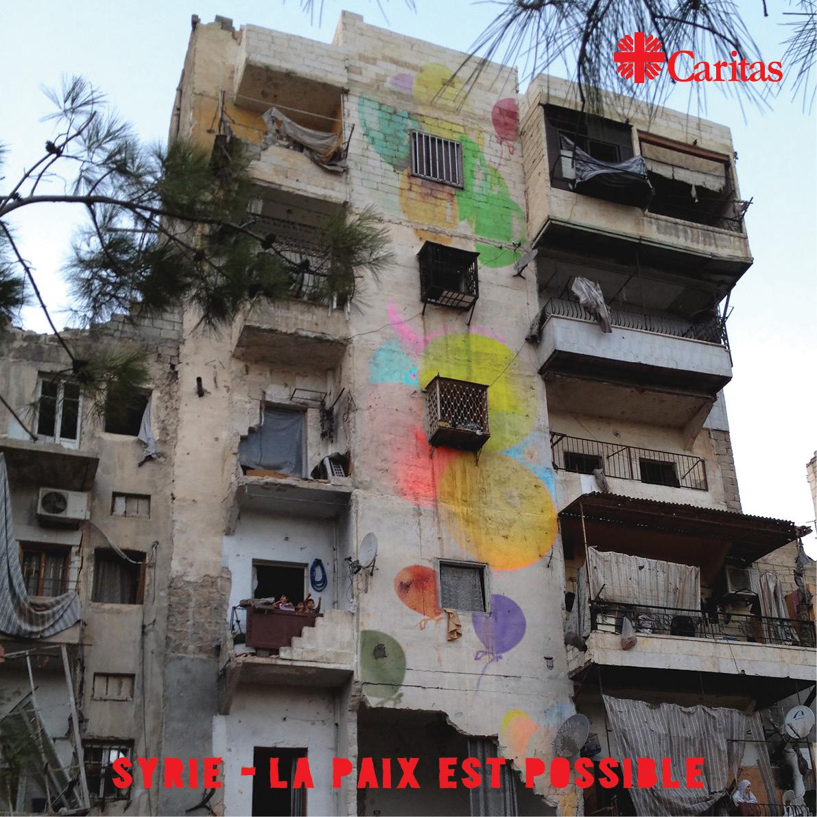 Rejoignez Caritas pour redonner paix, dignité et espoir aux Syriens. Caritas fait campagne pour un terme immédiat aux violences et aux souffrances. Merci de nous rejoindre pour rendre la paix possible en Syrie. #PeacePossible4syria